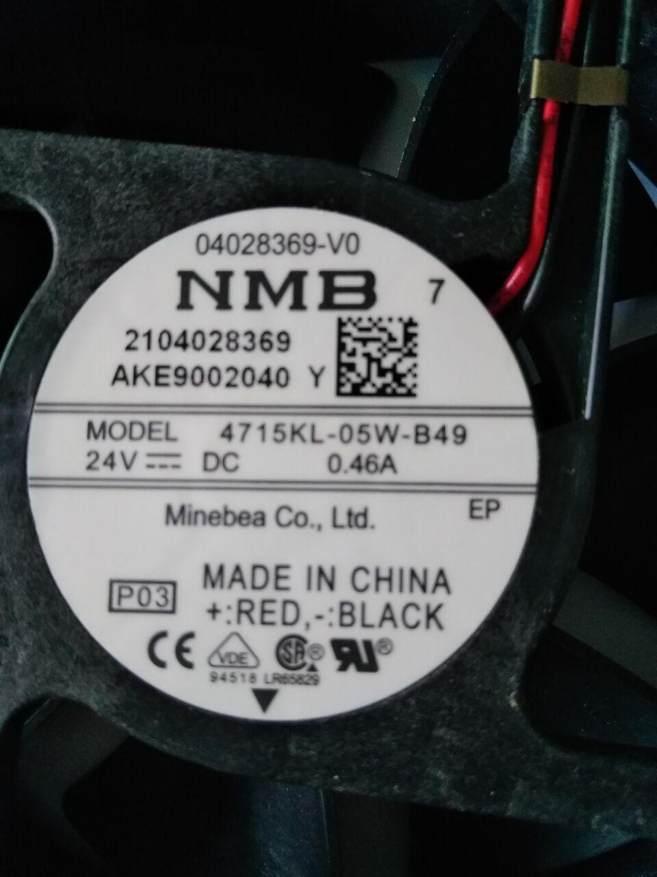 Nuevo ventilador original de NMB 4715KL-05W-B49 inversor inversor DC24V12038