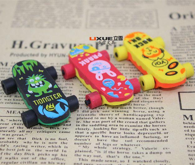 Cartoon Skateboard Eraser sets / OfficeStudy Rubber Eraser / Gifts / Kids Gift Envío gratis