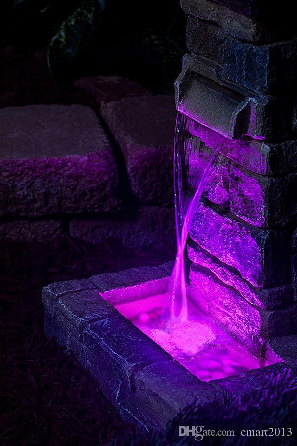 RGB Multi colores Mando a distancia 16 colores Lámpara sumergible de LED, base de jarrones LED para celebración de banquetes de boda