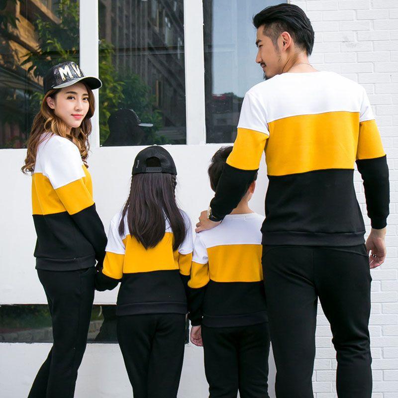 Abbigliamento per la famiglia Nuovo 2017 moda Autunno madre padre Boy Girls Vestiti in cotone set Famiglia Abiti di corrispondenza Mommy and Me Clothes