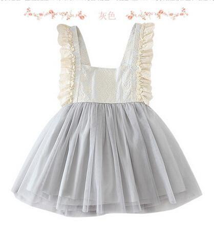 2017 키즈 여자 드레스 Tulle 레이스 Bow 파티 드레스 Baby Girl 투투 공주 드레스 아기 한국식 Suspender 드레스 아동복