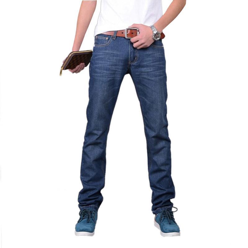 Pantalon à carreauxJeans Jeans classique pour hommes Élégant conçu droit Pantalon Slim Fit Jeans décontractés hommes v120