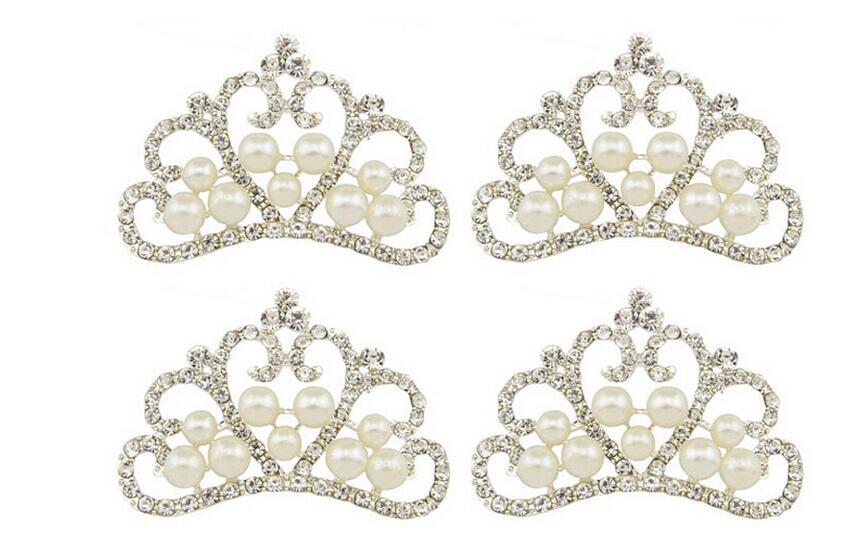 10 unids Plateado Cristales Cristales Perlas Rhinestones Corona Para Scrapbooking Craft Nueva Decoración Nupcial