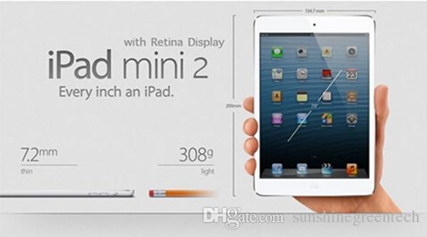 """Refurbished iPad mini 2 Genuine Apple iPad mini 2nd Generation Wifi16/32/64G Tablet PC 7.9"""" Retina Display IOS A7 DHL"""