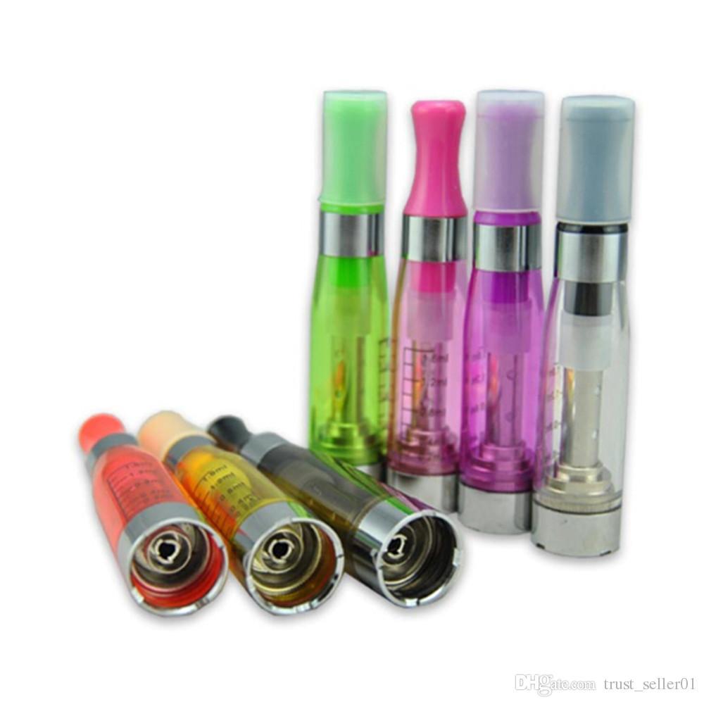 CE5 Vaporizer Atomizer 1.6ml 2.4ohm No Wicks drip tip Ecigarettes for electronic cigarettes eGo kit UGO eGo T battery Colorful DHL