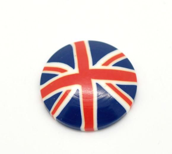 "UK Flag Union Jack Resin Embellishments 20mm(3/4""),sold per packet of 20 2015 new"