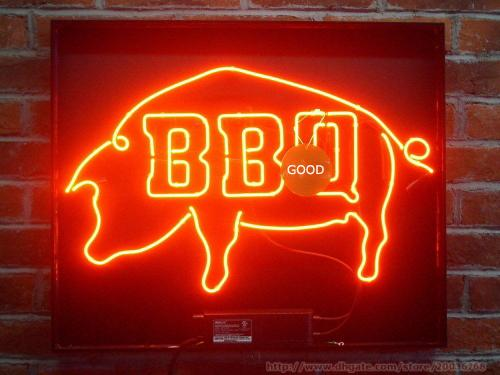 2020 HOT BBQ Pig Neon Sign Beer Sign Real Glass Tuble