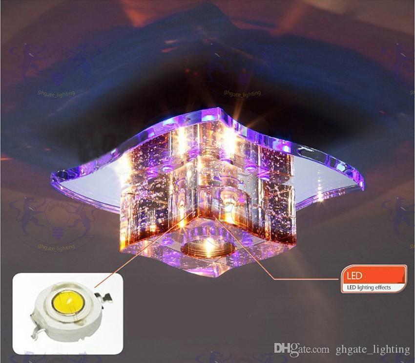 2017 Modern LED Kristal Tavan Işıkları Moda Aydınlatma Armatürleri Cam Koridor Lamba