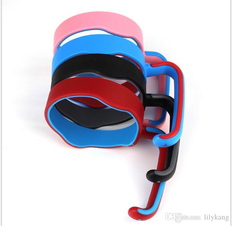 2017 nueva taza de la manija para el vaso de las tazas del coche 20OZ Plastic 6 colores Handle perfecta para las tazas del coche 20OZ