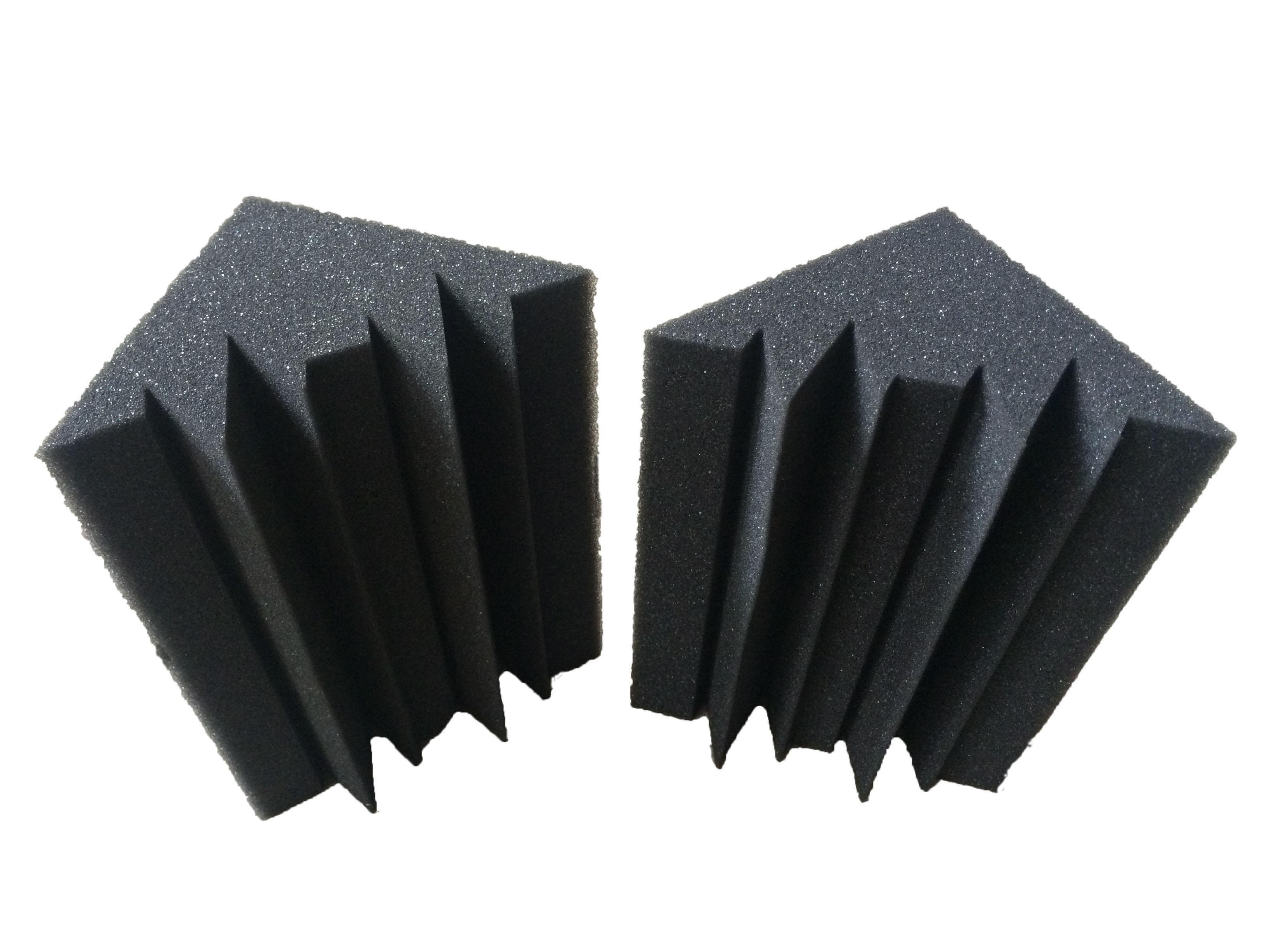 12 جهاز كمبيوتر شخصى أسود ستوديو عازلة للصوت رغوة الفحم باس فخ الإسفنج الصوتية