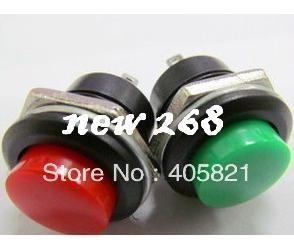 Interruptor de Botão de pressão R13-507, 16 MM, interruptor de pressão momentânea, cor do botão vermelho, verde, preto