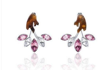 brincos de mulheres de ramo de cristal de diamante (yt-jd)