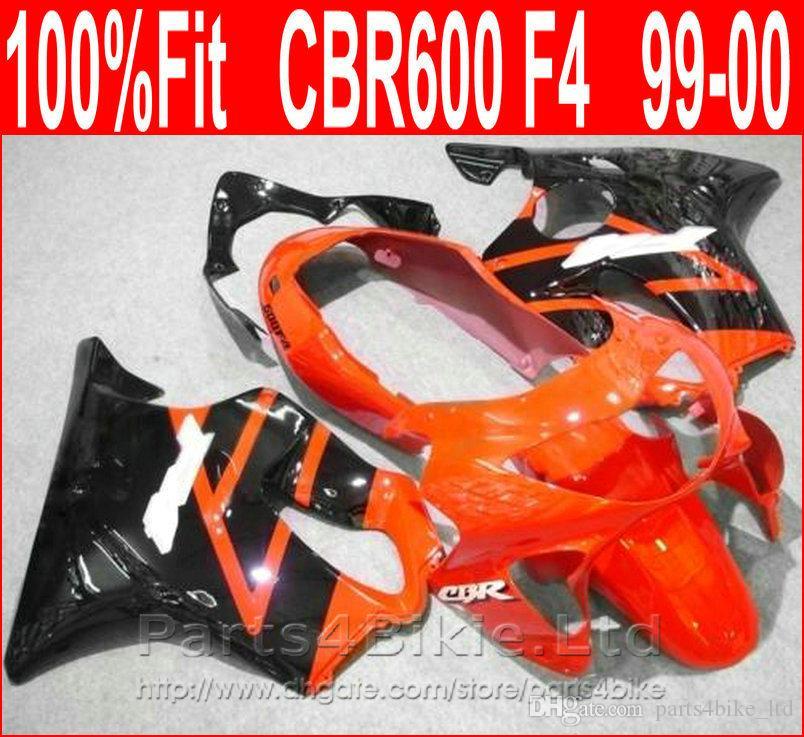 Simple red black body repair parts for Honda fairing CBR600 F4 99 00 CBR 600 F4 1999 2000 fairings kit SEBZ