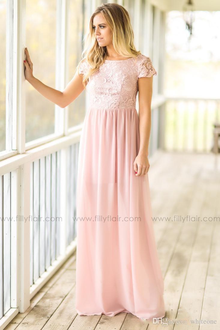 Increíble Vestido De La Dama De Honor Occidental Modelo - Colección ...