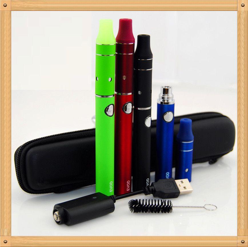 EVOD dry herb Starter Kit Electronic Cigarette Evod 650/900/1100mah Mini ago starter kit e cigarette mini ago g5 wax vaporizer pens ecigs