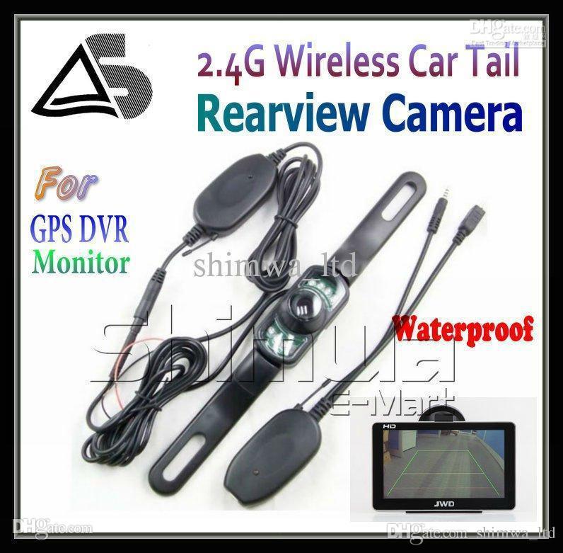 Telecamera posteriore per auto wireless Reverse Wide View Vision per GPS con sensore di parcheggio con funzione AV IN