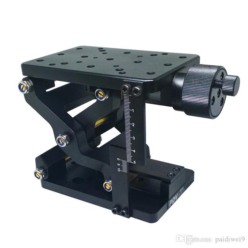 정밀 수동 리프트 Z 축 수동 랩 잭 엘리베이터 광학 슬라이딩 리프트 60mm 여행 PT-SD408 / 408S