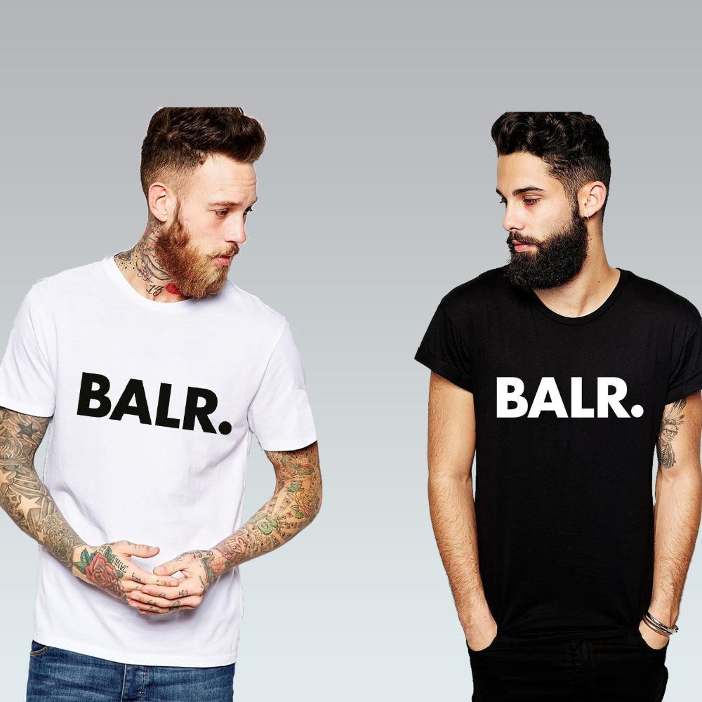 Livraison gratuite Sport Football BALR T Shirts Hommes Soccer balr Homme T-Shirt Coton O Cou Mens Tops Euro Taille