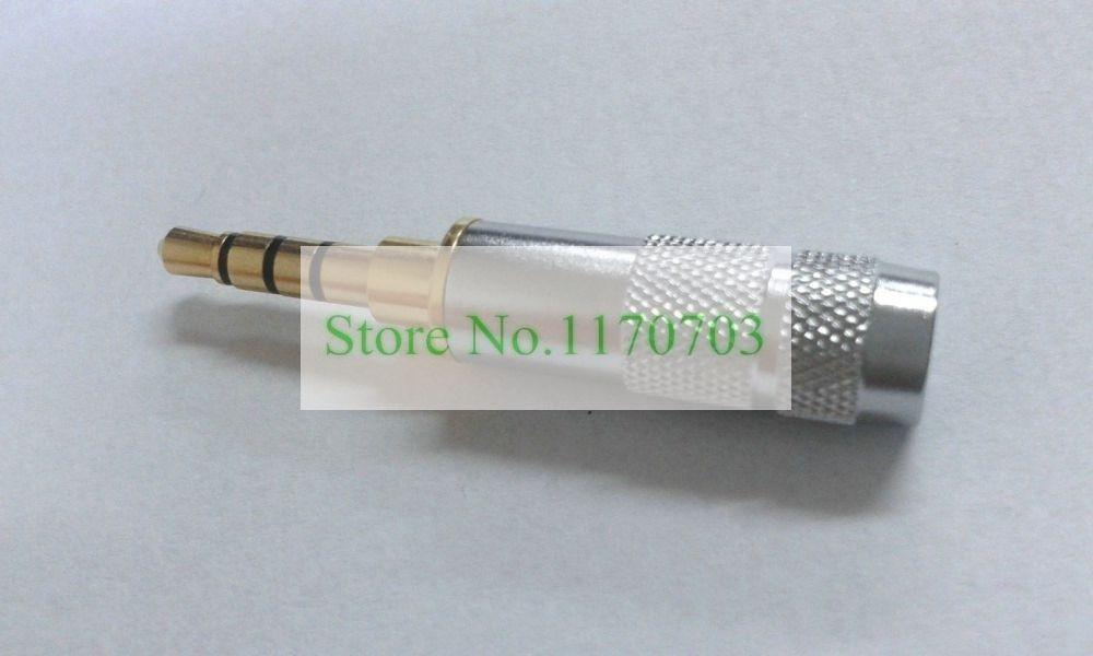 50 stks Gold 3.5mm Stereo 4 Pole Reparatie Hoofdtelefoon Jack Plug Kabel Audio Solden