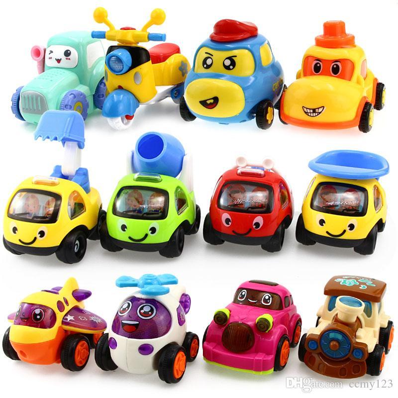 Dell'automobile del veicolo giocattoli per i ragazzi regalo auto auto giocattolo Tirare indietro modellino bambino inerziale Ingegneria Aircraft treno Collezione Natale dei bambini