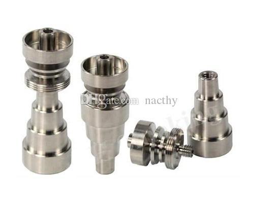 10mm 14mm 18mm Regolabile GR2 Domeless titanio nail grade 2 titanio chiodo per vetro bong narghilè tubo dell'acqua tubi fumo bong