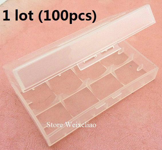18650 16340 cr123 14500 17670 литиевая батарея коробка влагостойкая коробка для хранения 1 лот (100 шт.) Бесплатная доставка