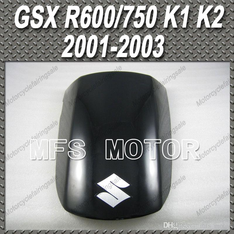 Black Rear Pillion Passenger Seat For GSXR 600 750 2001-2003 GSXR1000 2000-2002