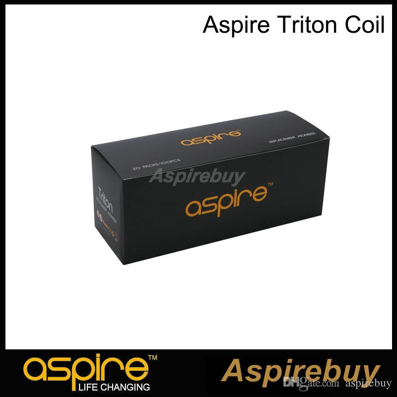 100% Original Aspire Triton Coil RBA Replacement Coil with Japanese Organic Cotton 0.3 0.4 1.8 ohm Coil for Triton Tank