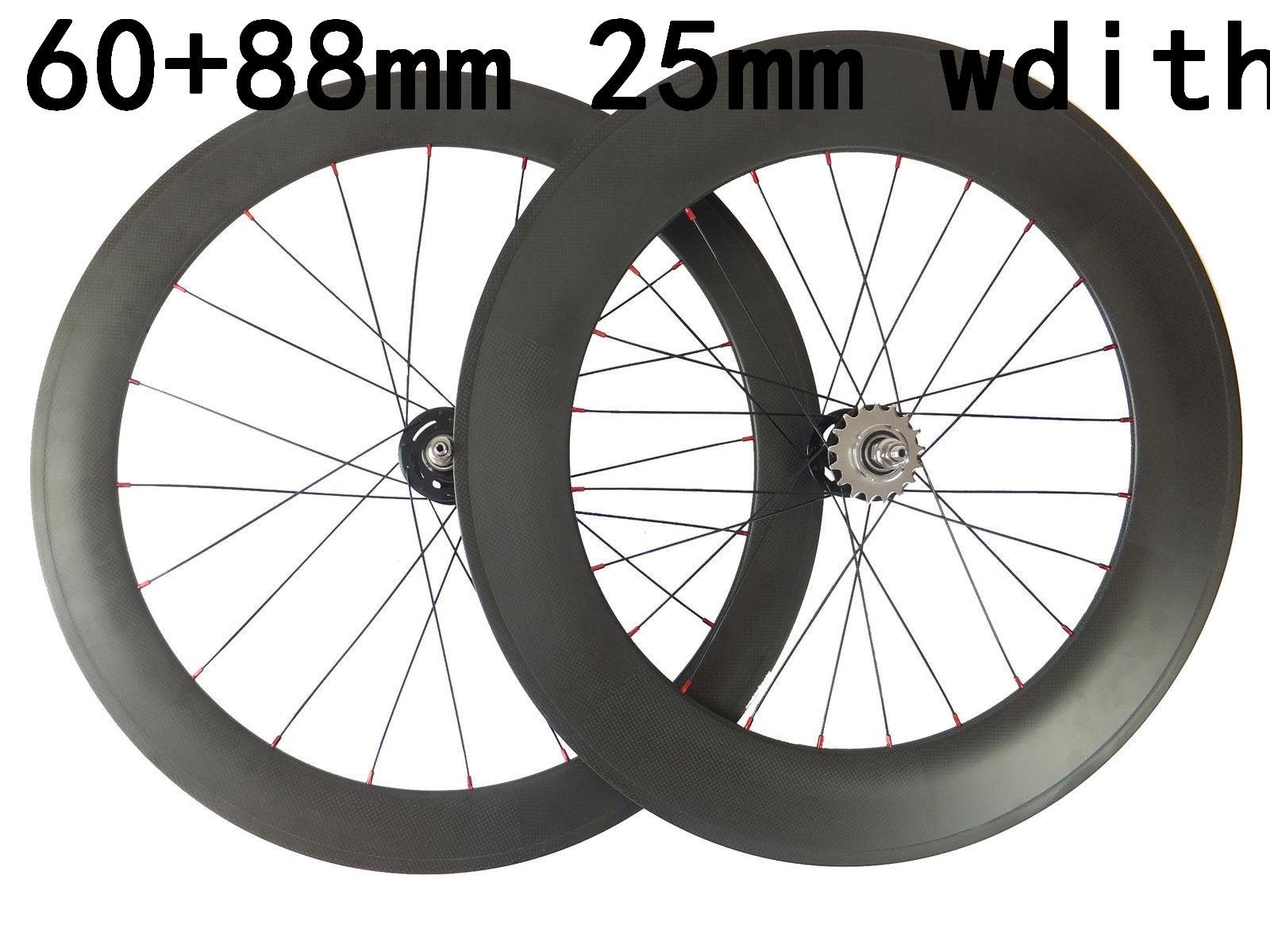 88mm tubular carbon front track bike wheel,700C 20 spoke 25mm width