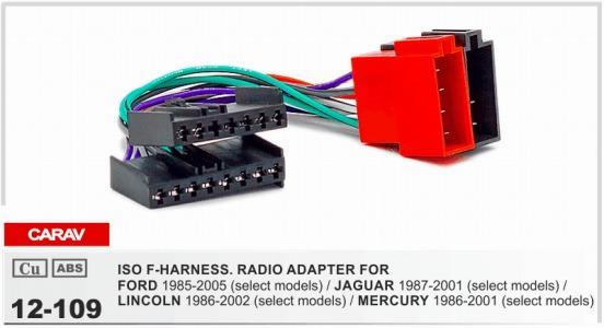 CARAV 12-109 ИСО Ф-ПРОВОДОВ.Переходника радио для кабеля тени руководства разъема монтажной схемы FORD 1985-2005