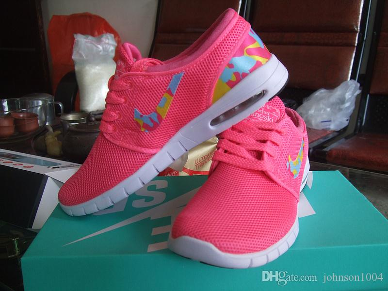 Nike SB Stefan Janoski Max Usa Flag PinkRed For Women 2015 Nike Maxes Running Shoes Nk Brand Ladies Sports Trainers Shoes Best Womens Running Shoes
