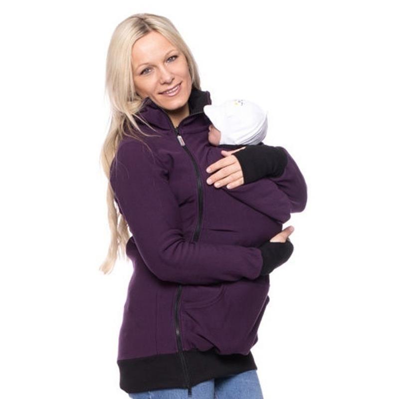 Tragende Frauen Hoodie Känguru Hoodie Sweatshirts für Mama Baby Tragen Hoodie Plus Größe Tops Outwear