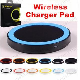 Q5 Qi Wireless Charger Cell phone Mini Charge Pad For Qi-abled device Samsung Galaxy S3 S4 S5 S6 Note2/3/4 Nokia HTC LG Iphone phone MQ100