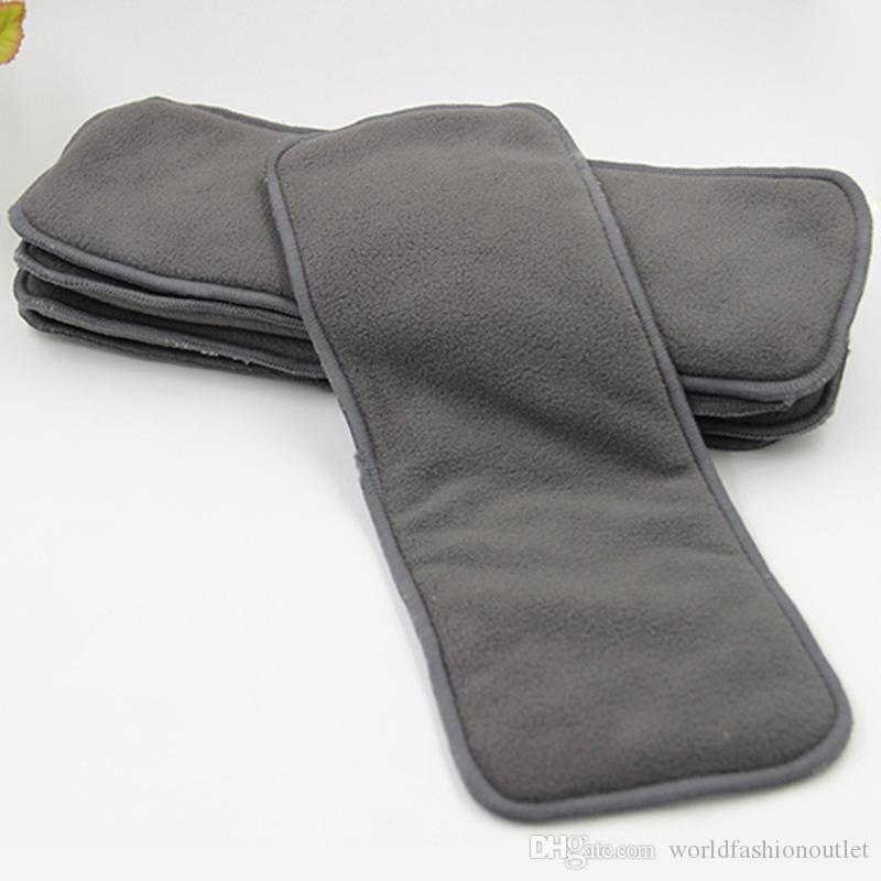 4 layers Bamboo Charcoal Inserts Cloth diaper For Baby Diaper washable reuseable baby diapers 4 layer thickening urinal pad