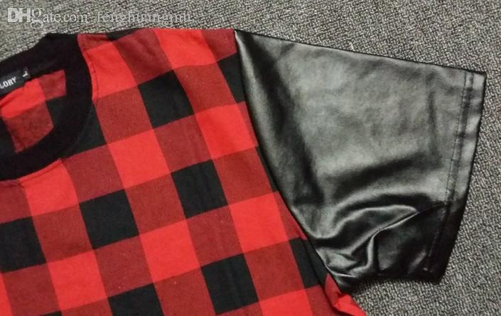 Оптовая продажа-лето Kanye west красная футболка платье Хабар Новый 2015 мода Алмаз мужская хип-хоп t футболка с коротким рукавом человек Tyga топы