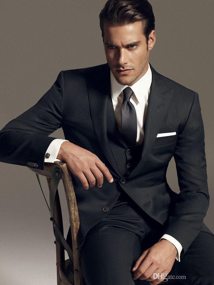 잘 생긴 새로운 디자인 옷깃 신랑 정장 레저 블랙 무도회 쇼핑 남자 아침 드레스 신사 총 금천구 패션 신랑 조끼