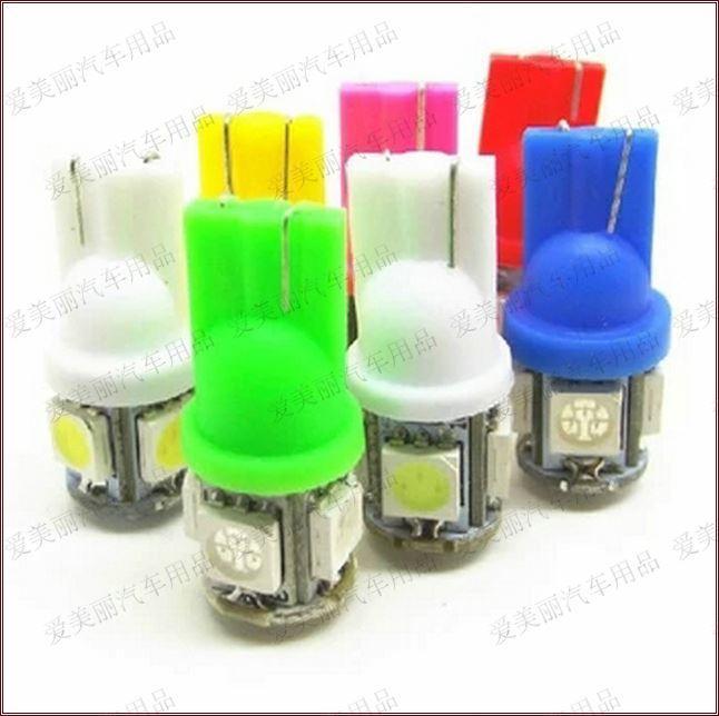 Wholesale 500pcs T10 W5W 5050 5LED 5 smd LED Bulb Car Wedge Light Bulb Car Side Light Bulb 12v / 24v