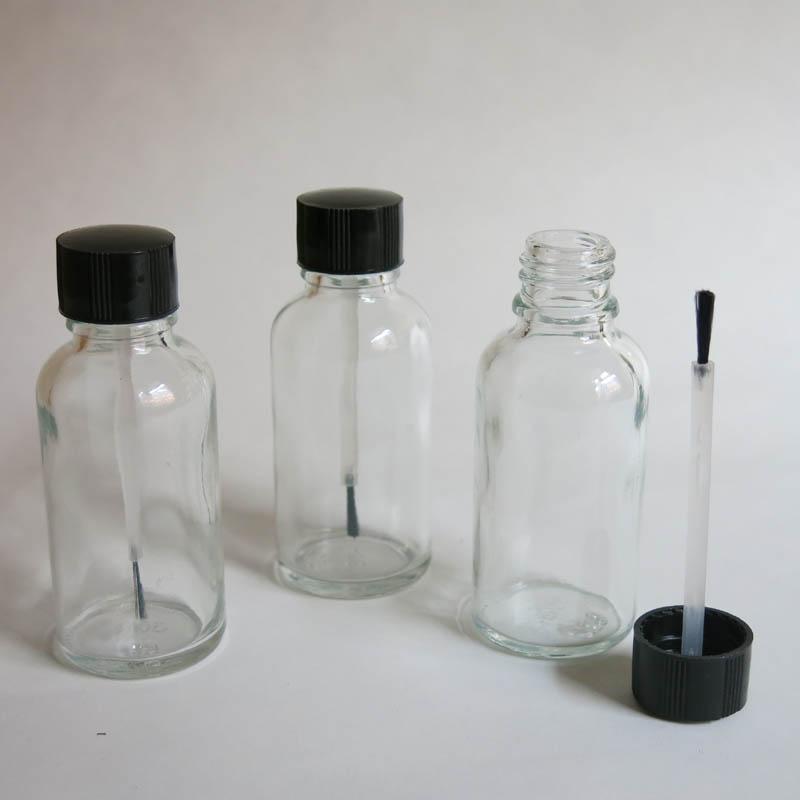 도매 10 PC 30 ml 투명 유리 브러쉬 병, 30 ml 유리 병, 분명 Essetial 석유 병, 혈 청 브러시