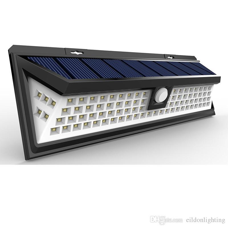 Czujnik Słoneczny Światło ścienne 7W 900LM 90 Lampa LED zewnętrzna Wodoodporna ABS Parking Lighting Lighting Motion Detection Akumulator Direct Chiny