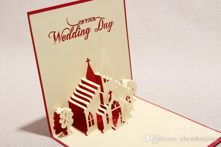 3d Sweet Wedding Greeting Cards Handmade Paper Sculpture Creative