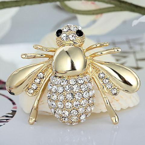 Spille a forma di ape con miele Spille Spille Bouquet da sposa Sciarpa hijab da sposa vintage Pin Up Fibbia Spille