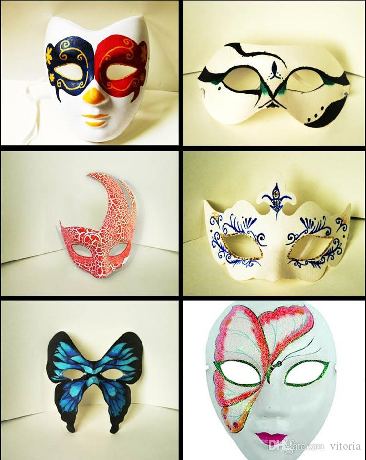 Diy Mask Hand Painted Halloween White Face Mask Zorro Crown