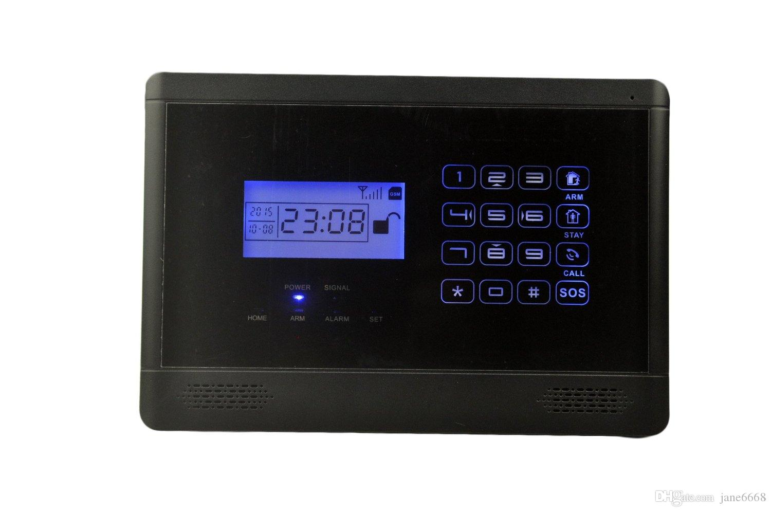SAFEARMED TM 2016 NIEUWE SF-4099LCD APP-besturing Draadloze GSM TOUCH-toetsenbord 433MHZ Home Security Alarm System Auto Dialer