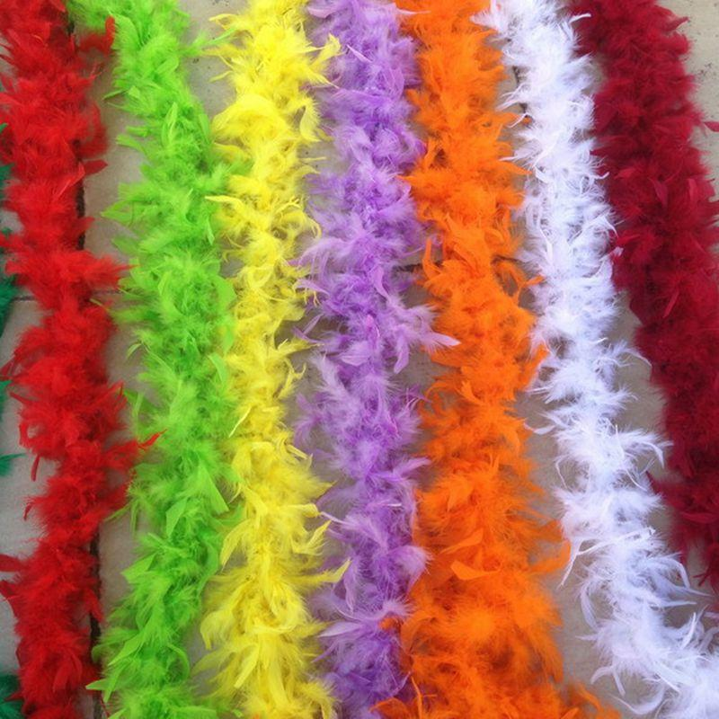 화이트 깃털 보아 저렴한 두꺼워 깃털 보아 200cm Chandelle 깃털 보아 2M 대머리 황새의 결혼식 레드 핑크 YellowMany 색상 빠른 배송