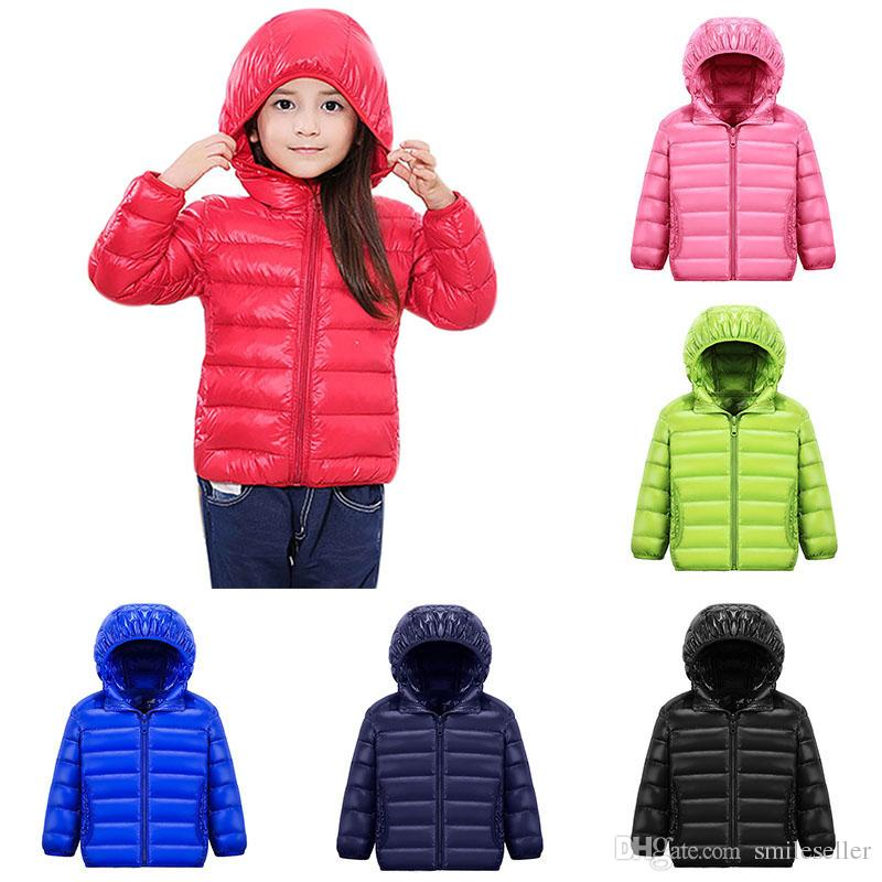 fe51fc99d Hooded Kids Winter Jackets Girls Long Sleeve Warm White Duck Down Jacket  for Girls Windproof Children's Winter Jackets Coat VA0225