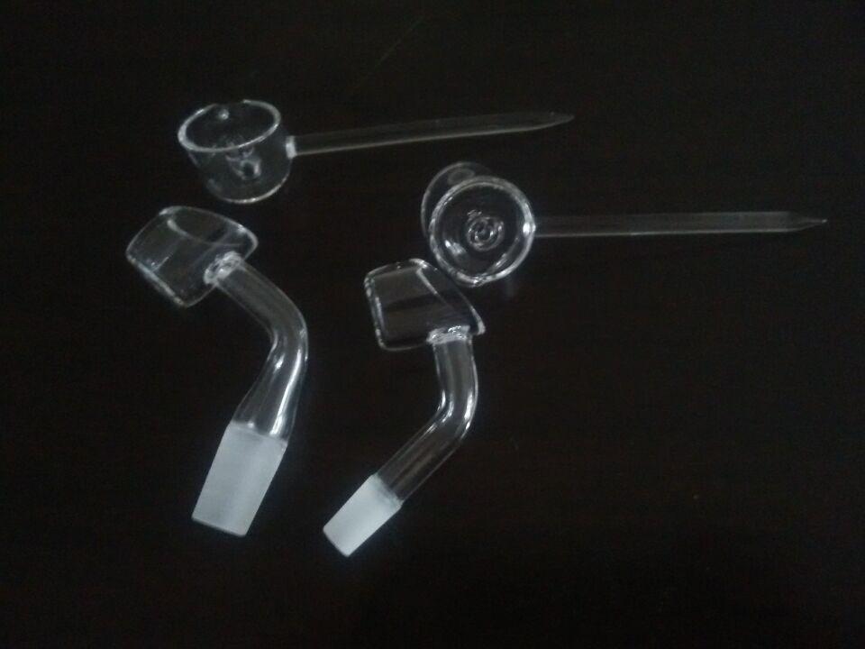 45 millimetri di 45 gradi di quarzo domeless maschio banger chiodo 10mm o 14mm con tappo al carb del quarzo