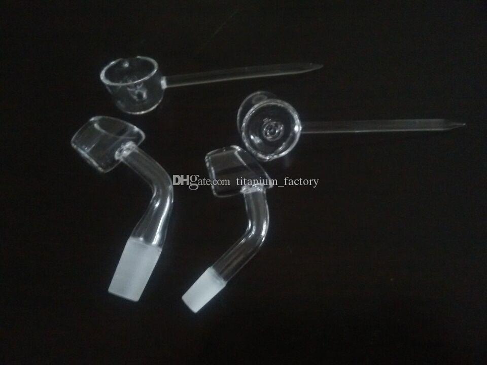 2.5 mm de espesor 45 grados macho cúbico domanless banger uñas 10 mm o 14 mm con tapa de cuarzo carb