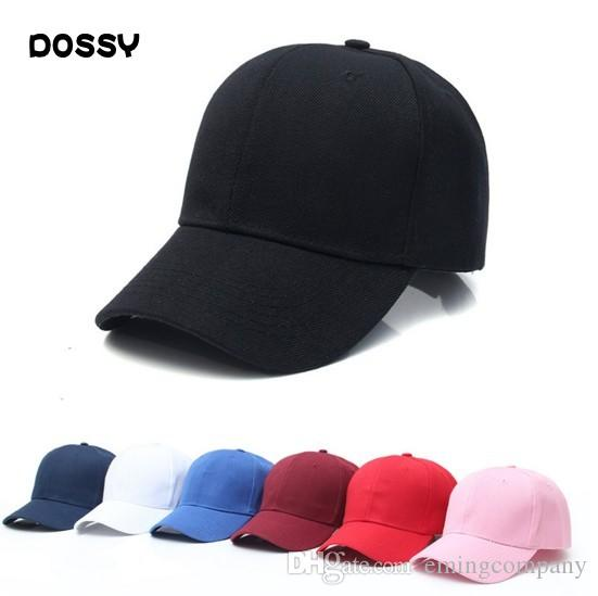 New Plain Fitted Baseball Cap Curved Visor Solid Blank Color Caps Hat Hats US