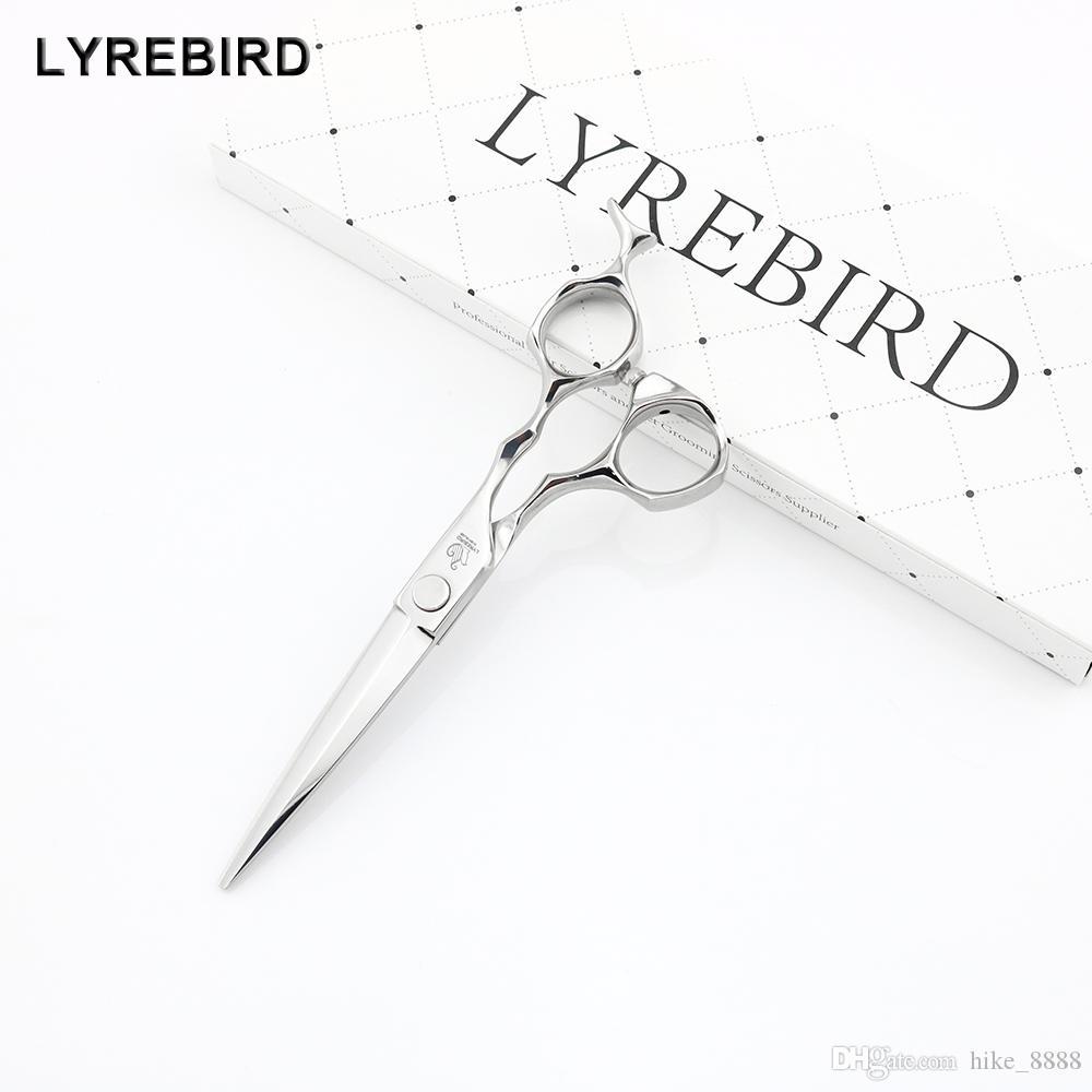 Lyrebird HIGH CLASS Japon Ciseaux cheveux 6 INCH coupe de cheveux de cisaillement avec plat Vis et poisson poignée de queue F29 NOUVEAU