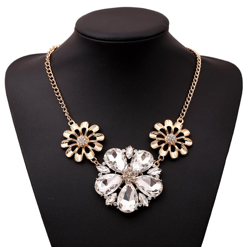 New Gold Chain Design Girls Gold Plating Necklace With Hollow Out ...